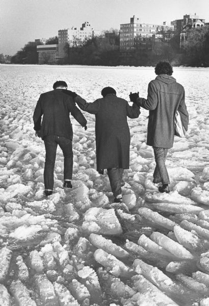 Encounter On Lake Mendota >> Walking On Frozen Lake Mendota Photograph Wisconsin