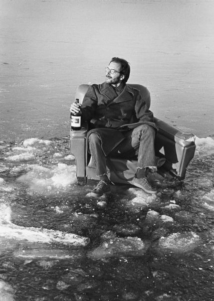 Encounter On Lake Mendota >> Relaxing On Frozen Lake Mendota Photograph Wisconsin Historical