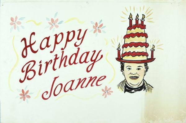 Happy Birthday Joanne Drawing Wisconsin Historical Society