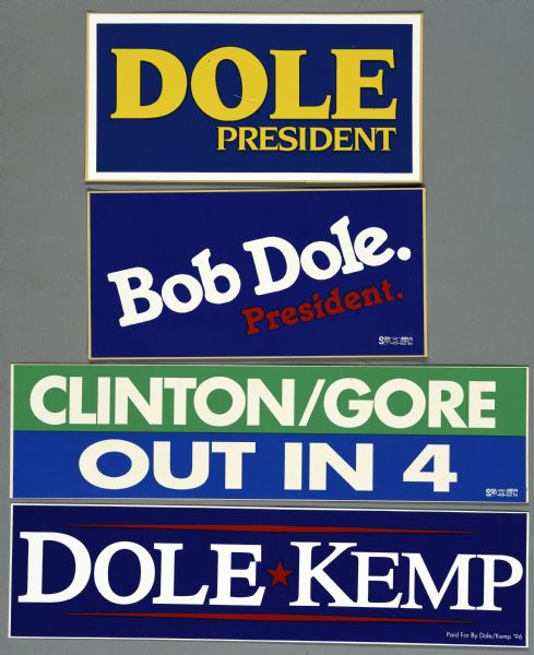 political campaign bumper stickers
