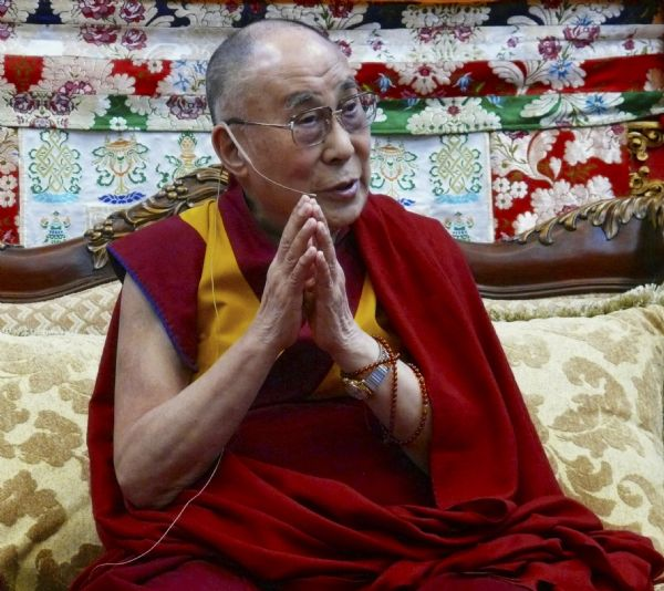 His Holiness, the Dalai Lama teaching in the Deer Park Buddhist Center Temple.
