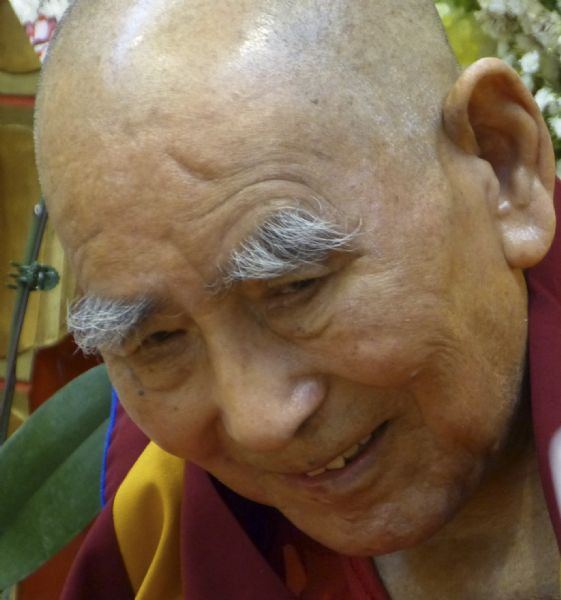 Geshe L Sopa at the Deer Park Buddhist Center Temple.