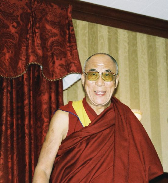 His Holiness, the Dalai Lama at the Madison Club at a fundraising event for the new Deer Park Buddhist Center Temple.