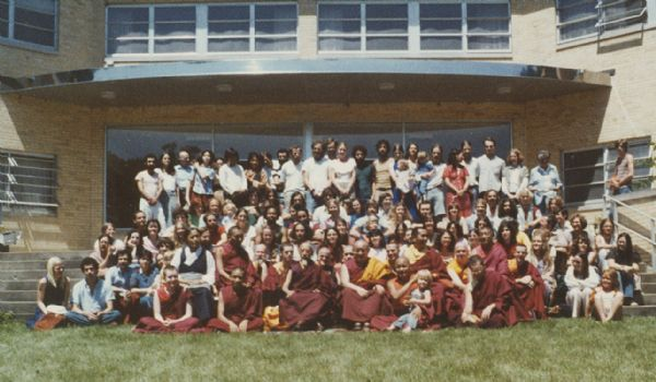 The Deer Park Buddhist Center summer seminar at Edgewood College. Includes the following visiting teachers, among others, HH Tsong Rinpoche, Geshe L Sopa, Geshe Rabten, Lama Zopa Rinpoche, Lama Yeshe and students.