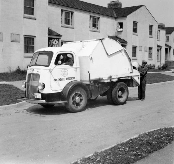 The Greendale Department of Public Works used this truck to collect trash.