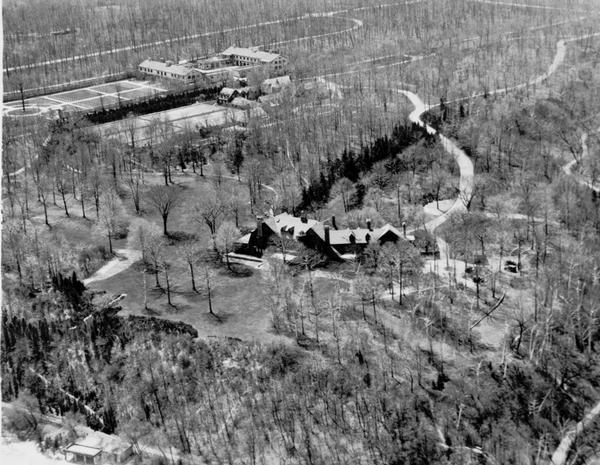 "Aerial view of ""Walden,"" the estate of Cyrus McCormick, Jr."