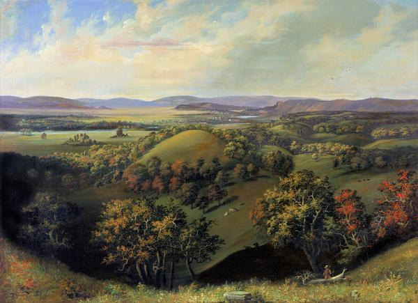 Painting by S.M. Brookes of the Wisconsin Heights Battlefield.
