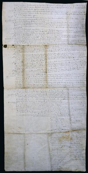 The second page of the handwritten treaty between the Stockbridge and Munsee Indians.