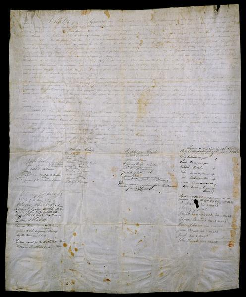 The third page of the treaty between the Stockbridge and Munsee Indians.