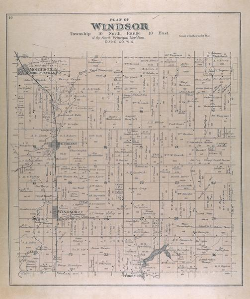 Color plat map of the Windsor township.