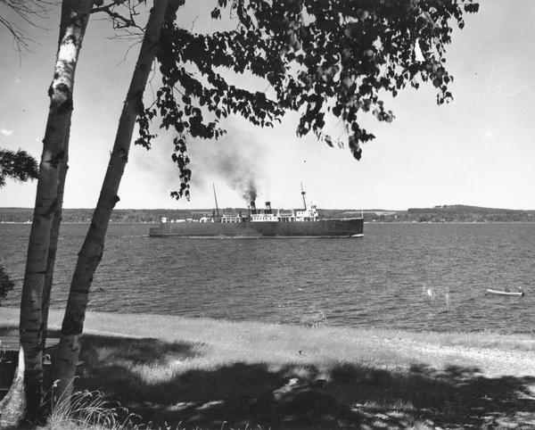 "The screw ferry, ""Ann Arbor No. 7."" The ferry was later named ""Viking,"" then ""Viking I."""