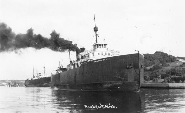 The screw ferry, Ann Arbor No. 7, at Frankfort. Later named <i>Viking</i>, then <i>Viking I</i>.
