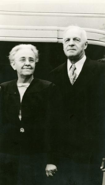 Dr. Anton N. Nelson and Mary Nelson, parents of Gaylord Nelson.  Dr Nelson was a physician in Clear Lake, Wisconsin.