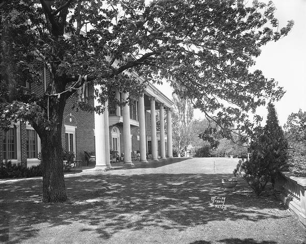 The east terrace of the Dr. and Mrs. Frederick Allison Davis home, also known as Edenfred, in the Highlands suburb west of Madison, 6048 S. Highlands Avenue.
