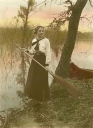 Woman with a Canoe Paddle