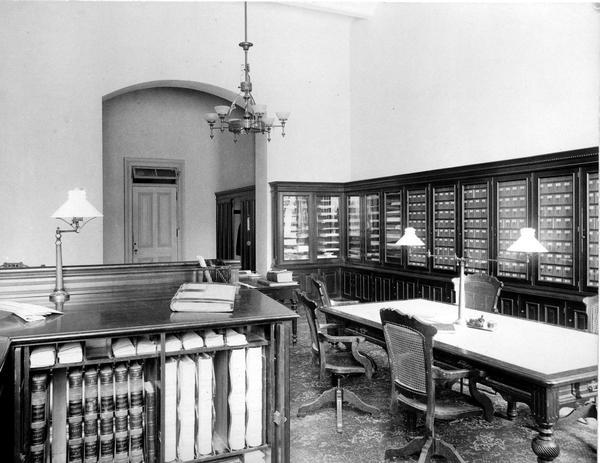 Office of the State Board of Control, Wisconsin Reformatory, Charitable and Penal Institutions in the third Wisconsin State Capitol.