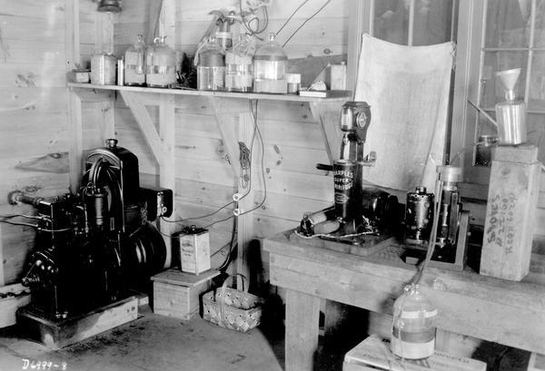 Dr. E.A. Birge's equipment at his Trout Lake Station laboratory.