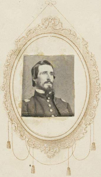Head and shoulders portrait of Colonel Stephen V. Shipman, F&S, 1st Wisconsin Cavalry.