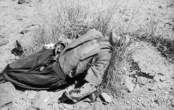 Executed man on ground. Algeria.