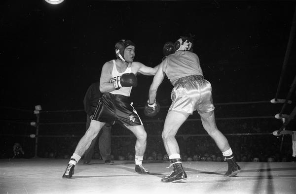 Gary Wilhelm, University of Wisconsin boxer.