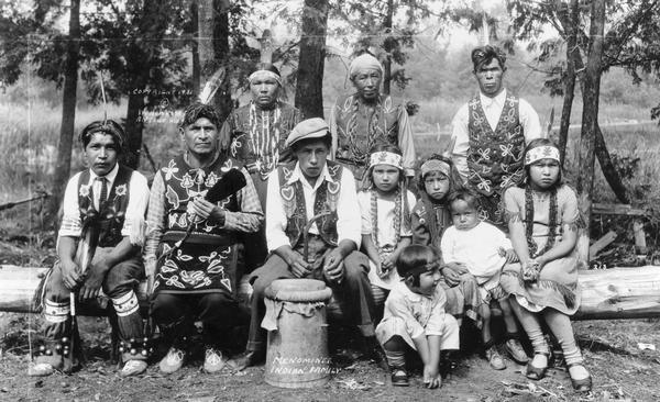 Menominee Indian Family Photograph Wisconsin Historical Society