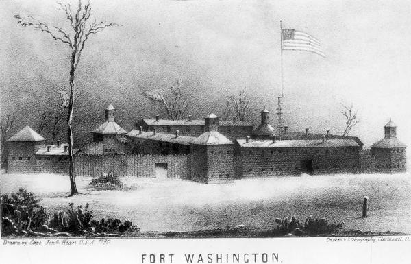 Fort Washington, built in 1789, where Cincinnati now stands.