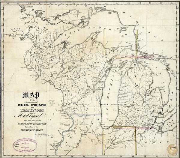 Michigan And Ohio Map.Map Of The Northern Parts Of Ohio Indiana And Illinois With