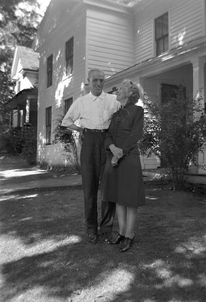 Winifred Bundy, secretary of the School of Music at UW-Madison, and her uncle, Bill Morgan. Both recorded for song collector Helene Stratman-Thomas.