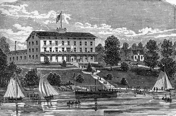 Illustration of the Lakeside House.