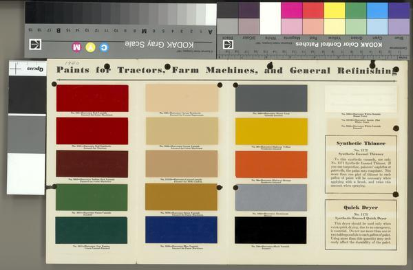 International Harvester Paint Chart | Print | Wisconsin Historical