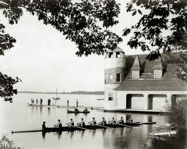 Encounter On Lake Mendota >> Lake Mendota Boathouse Photograph Wisconsin Historical