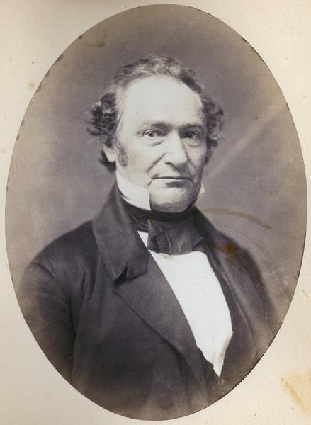 Salted paper photoprint of James Duane Doty, territorial governor of Wisconsin 1841-44.