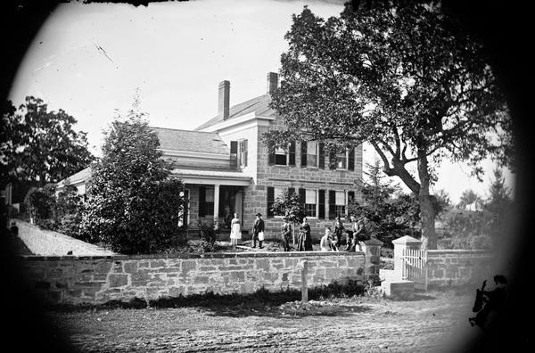 Mapleside, the home built by Able Dunning in 1853 on what is now University Avenue. It was razed in 1970 to make way for a Burger King restaurant.