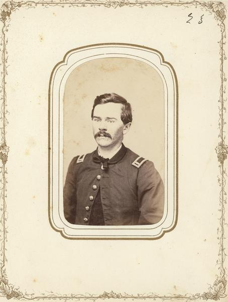 Carte-de-visite of Theodore Gillette of the 4th Wisconsin Cavalry.