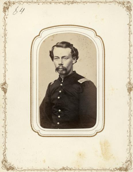Portrait of George W. Peck, 2nd Lieutenant, Company E, 4th Wisconsin Cavalry.