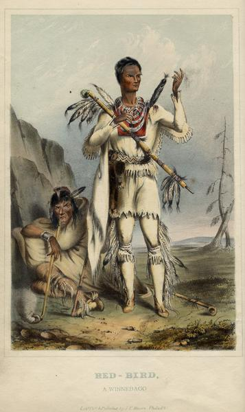 Redbird, a Winnebago Indian, following his surrender after an attack on Prairie du Chien in 1827. .