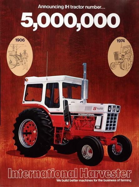 5 000 000th international harvester tractor advertising poster