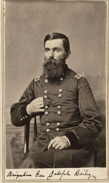 Brigadier General Joseph Bailey was known for the rescue of the Red River Fleet by building a dam to float the stranded ships out. He also founded the small town of Newport.