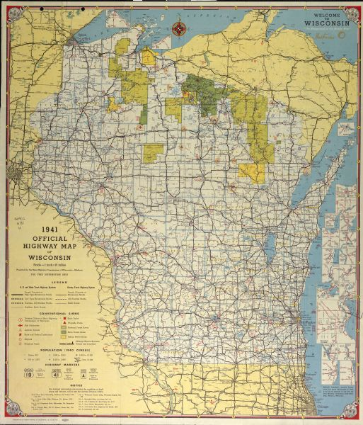 Wisconsin Highway Map Map Or Atlas Wisconsin Historical Society - Wi road map