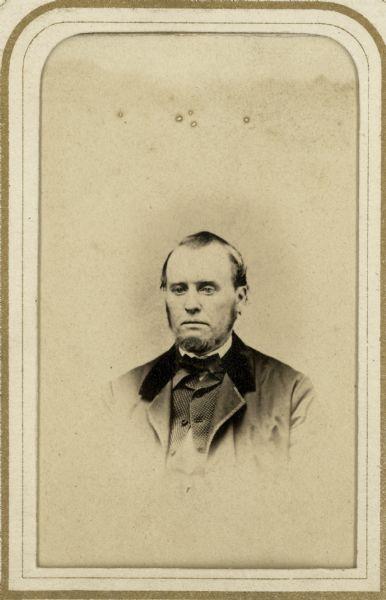 Vignetted Carte De Visite Portrait Of La Fayette Kellogg Clerk The Wisconsin