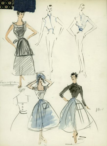 Skirt And Blouse Designs For Sabrina Drawing Wisconsin Historical Society