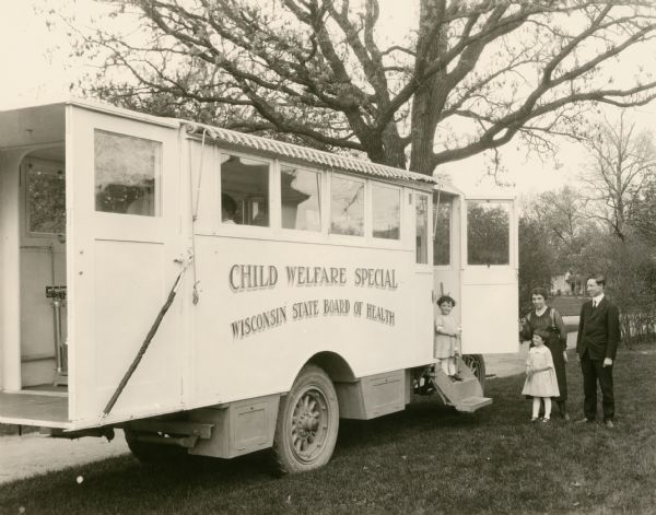 "Wisconsin State Board of Health's vehicle the ""Child Welfare Special""."