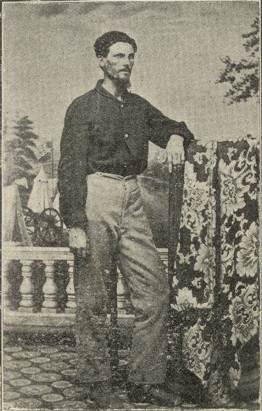 "Robert K. Beecham studio portrait in front of a painted background, at age 26. In the book ""As If It Were Glory"", Robert Beecham recounts his Civil War experiences, both as an enlisted man in the fabled Iron Brigade and as an officer commanding a newly raised African American unit. Serving from May 1861 through the end of the war, Beecham saw action with the 2nd Wisconsin at Chancellorsville and at Gettysburg, where he was taken prisoner by the Confederates. After being exchanged, he was promoted to First Lieutenant in a black regiment. Leading the men of the 23rd USCT in fierce fighting at the Battle of the Crater, Beecham was wounded, again captured, and after eight months in a Confederate prison, escaped."