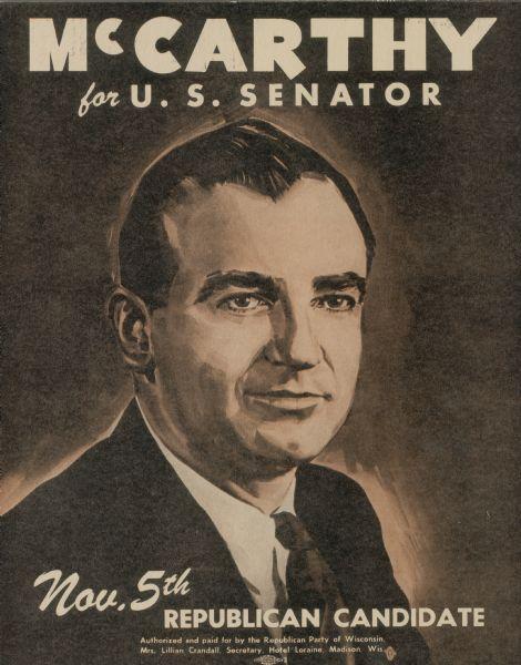 the aggressive nature of senator joseph r mccarthy
