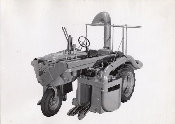 2-Row Cotton Harvester on a Farmall B Tractor | Photograph