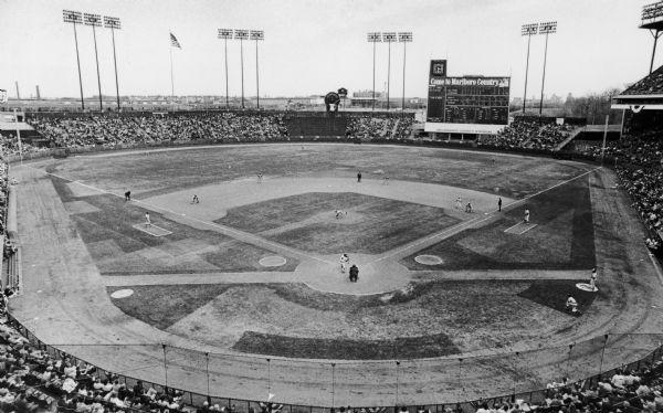 Milwaukee County Stadium Photograph Wisconsin