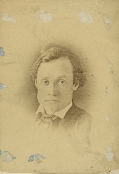 Portrait of Wisconsin legislator and newspaperman Charles C. Sholes (1816-1867).