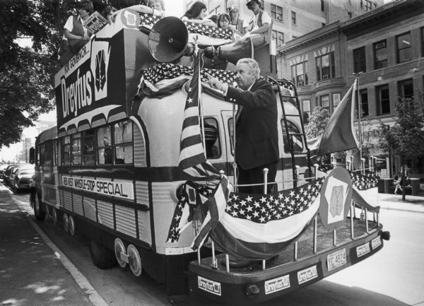 When he began his campaign for Governor, few people felt that Lee Sherman Dreyfus would be successful.  Although his campaign was underfunded, he attracted much public attention because of his refitted school bus.