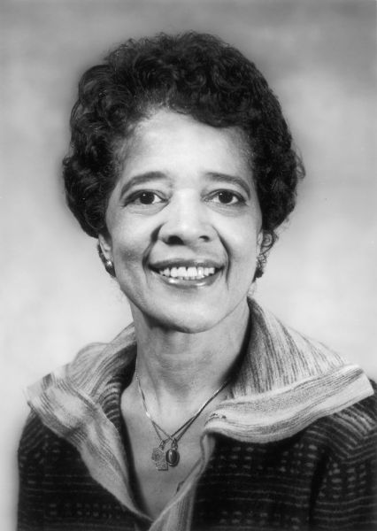 Formal portrait of Vel Phillips during her tenure as Wisconsin's Secretary of State.