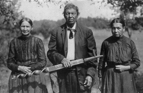 three menominee indians photograph wisconsin